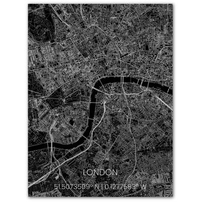 Metal Wall Decoration | City Map | London-100 x 80 cm