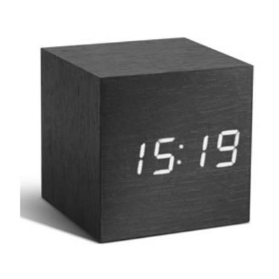 Cube-Klick-Uhr | Schwarz-Weiß