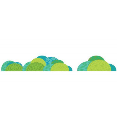 3 schicke Stoffaufkleber enthalten: - 1 großer rollender Berg - 1 mittlerer rollender Hügel - 1 kleiner rollender Buckel