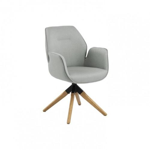 Dining Chair Laura   Light Grey & Wood