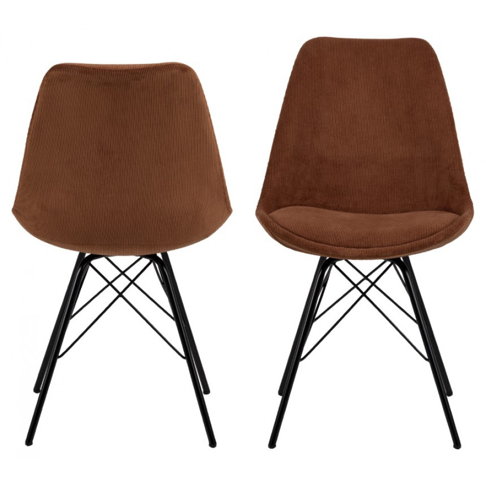 2-er Set Stühle Iris   Kupfer