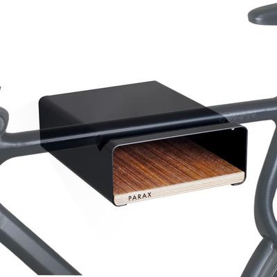 S-Rack Fahrrad-Wandhalterung M | Schwarz - Walnuss