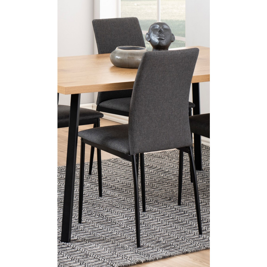 Set of 4 Dining Chairs Remina | Grey