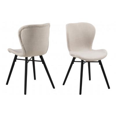 2-er Set Stühle Matilda-A1 | Sand & Schwarz