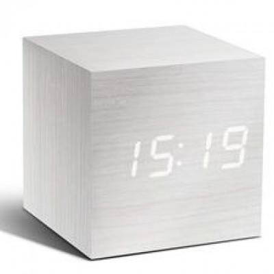 Cube-Klick-Uhr | Weiß & Weiß