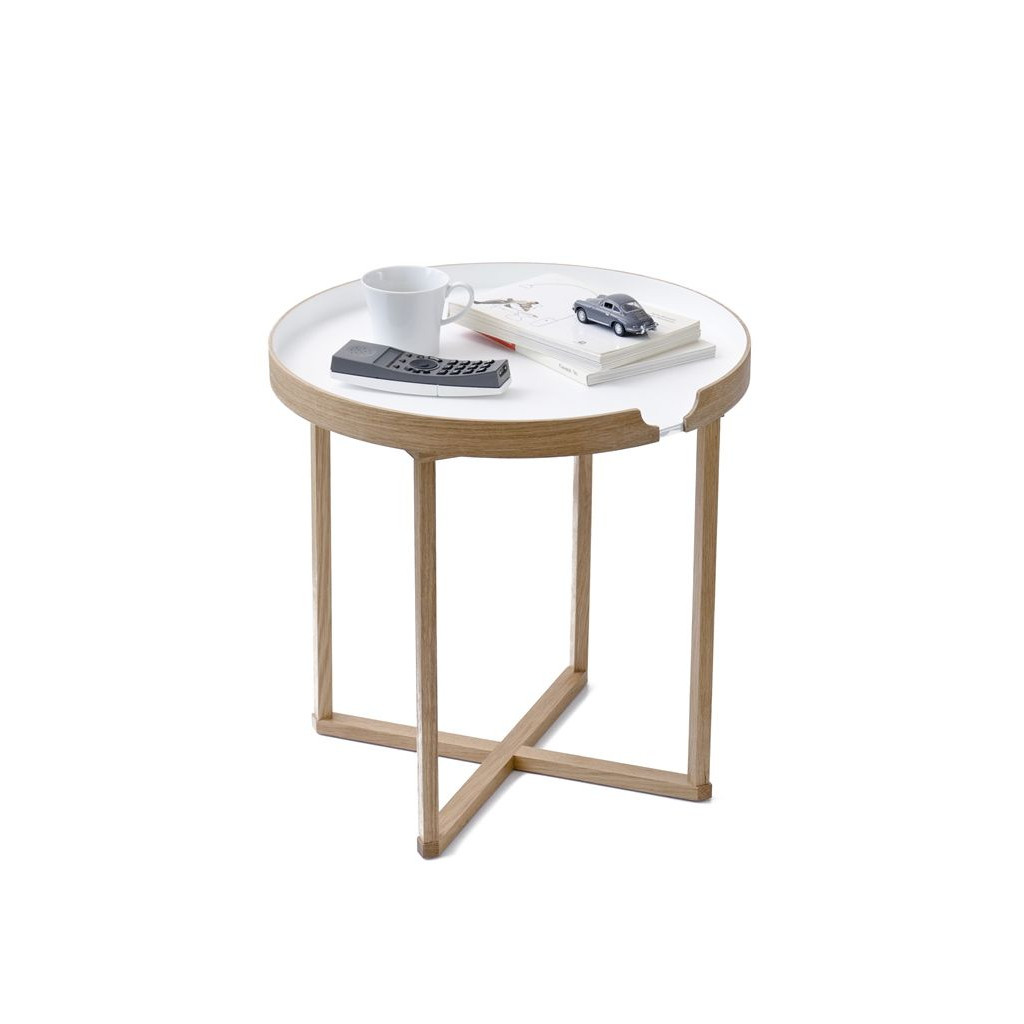 Side Table Damien Round   White