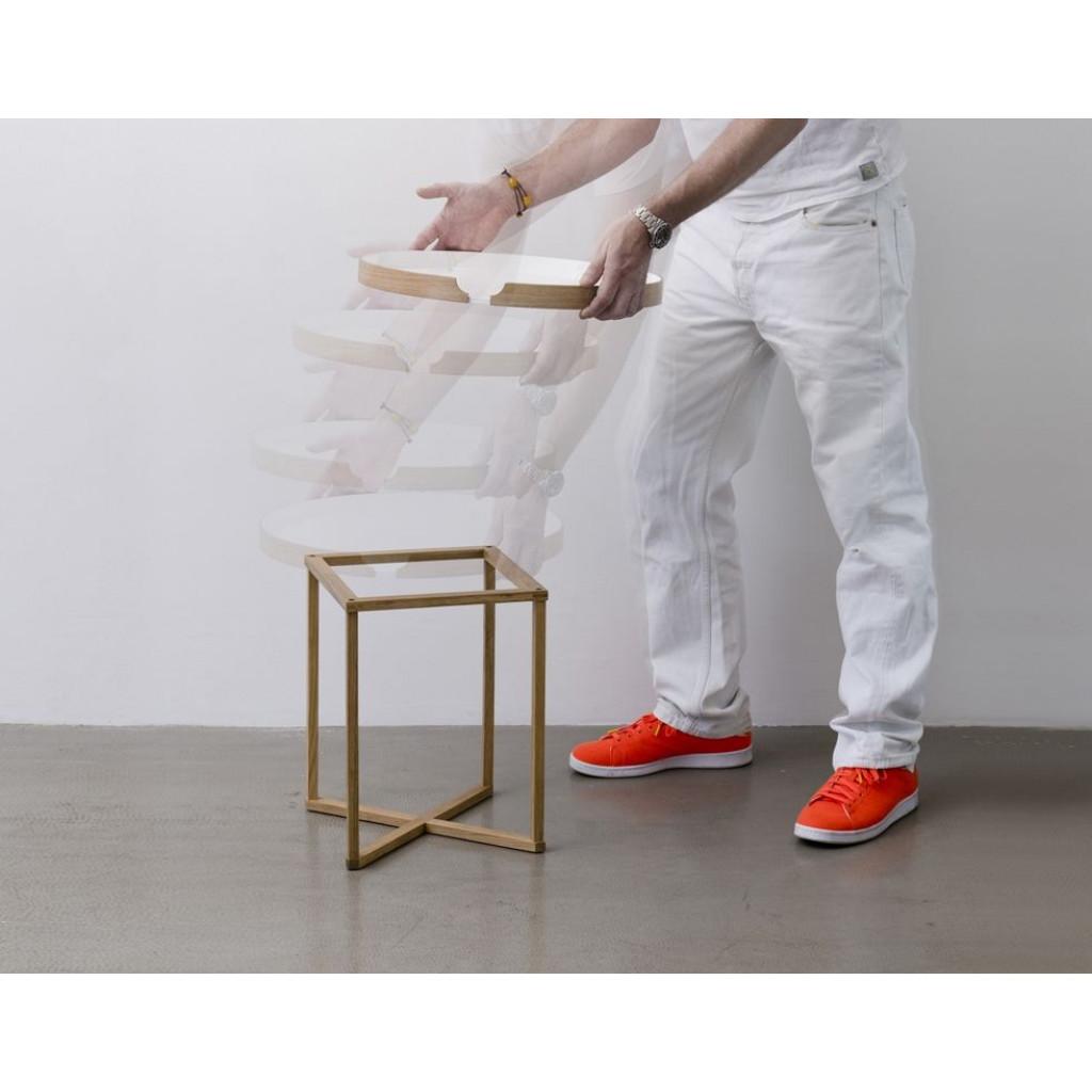 Beistelltisch Damien Square | Weiß