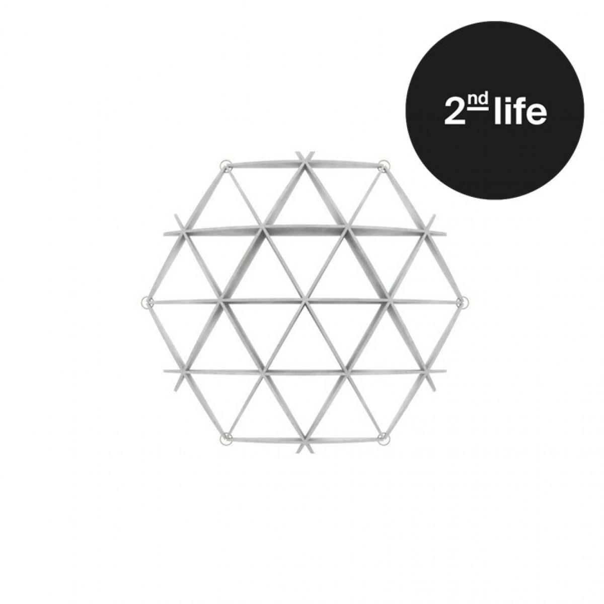 2nd Life   Comb Bookshelf   White - Mini