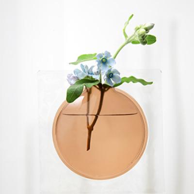 PVC-Vase Kaki | Braun