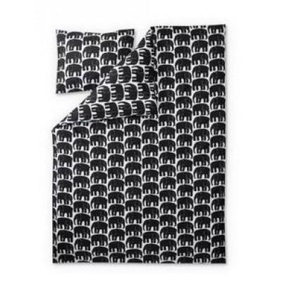Duvet Cover Set Elefantti | Black