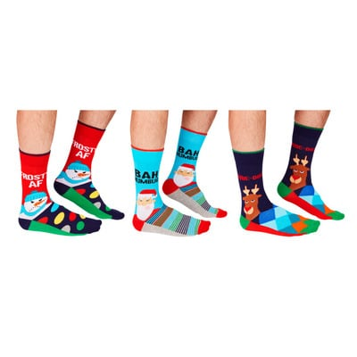 Herren Geschenkbox 6er Pack Socken Humbug   39-46