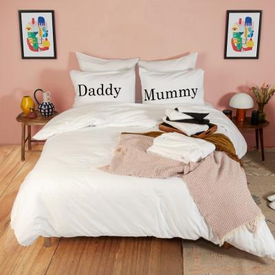 2er-Set Kissenbezüge & Bettbezug   Daddy & Mummy