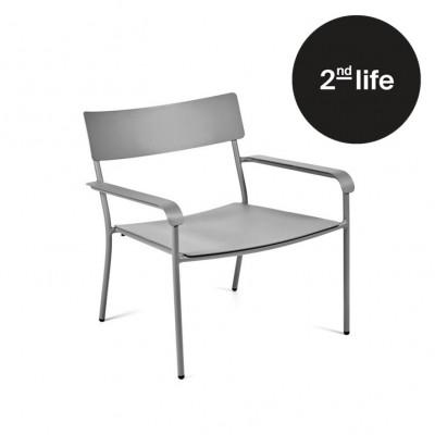 2tes Leben | Lounge Stuhl mit Armlehnen August | Grau