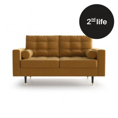 2tes Leben | 2-Sitzer-Sofa Aldo | Senf