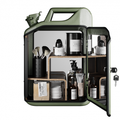 Badezimmerschrank | Armeegrün