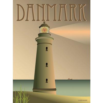 Dänemark Poster   Leuchtturm