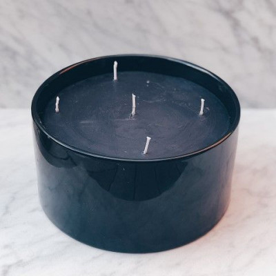 Dark Indoor Candle   Black