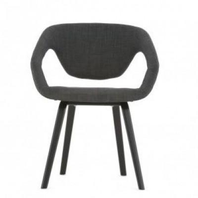 Flexback-Stuhl | Schwarz Dunkelgrau