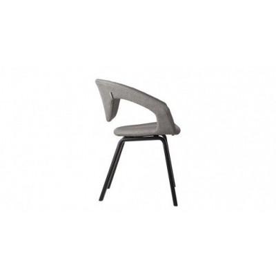 Flexback-Stuhl | Schwarz Hellgrau