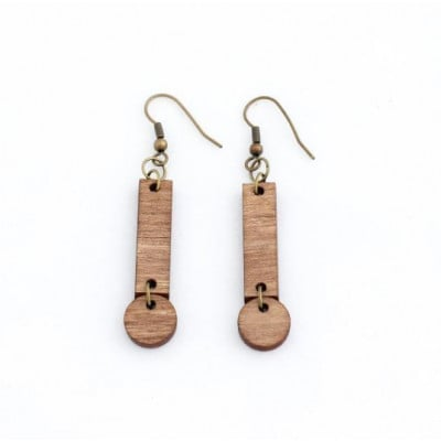 Cerilla Earrings   Dark Wood