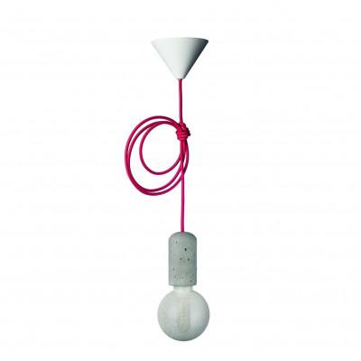 Concrete Pendant Lamp | Dark Pink