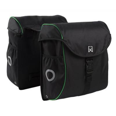 Double Bag for Bike   Black & Green