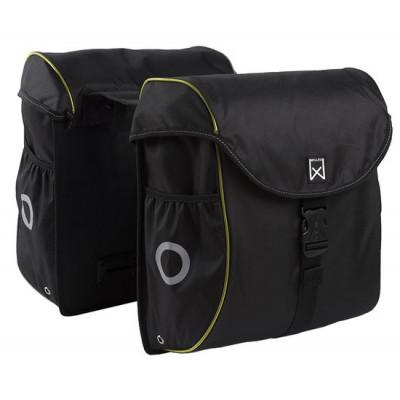 Double Bag for Bike   Black & Yellow