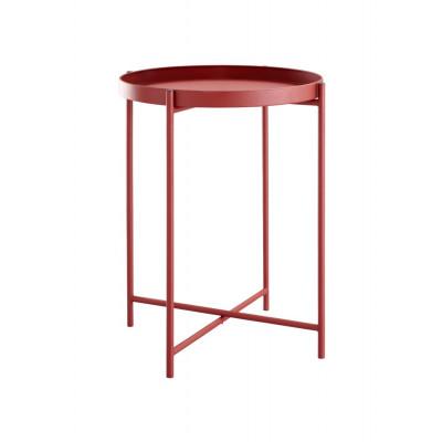 Beistelltisch Metall   Rot