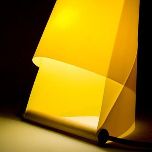 Furoshiki Tischlampe Gelb