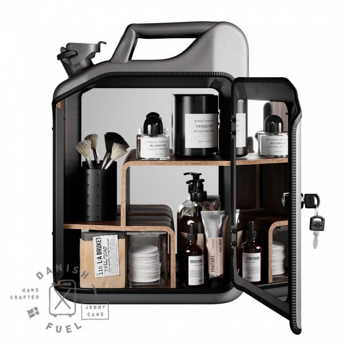 Bathroom Cabinet   Missle Grey + Oak