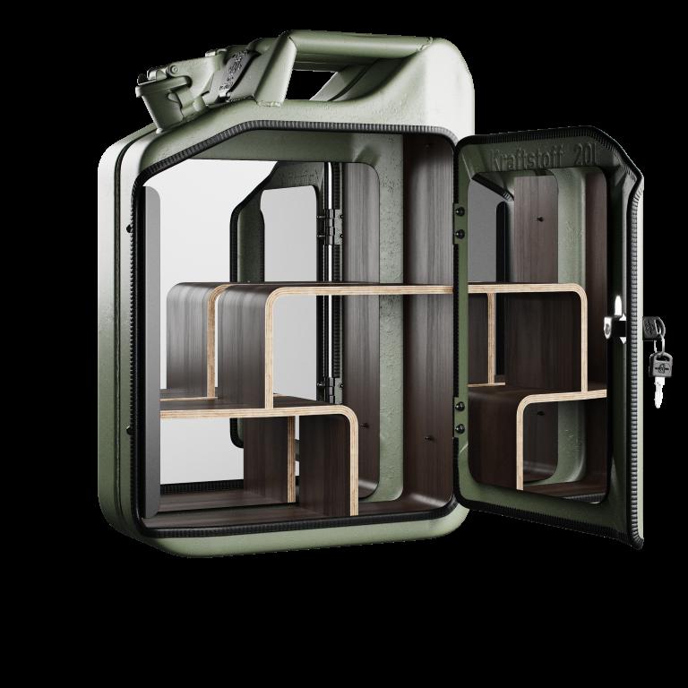 Armoire de salle de bain - Vert militaire