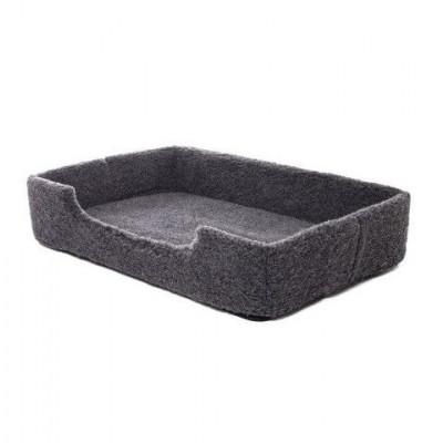 Woll-Pet-Bett Merino-Rechteck | Schwarz
