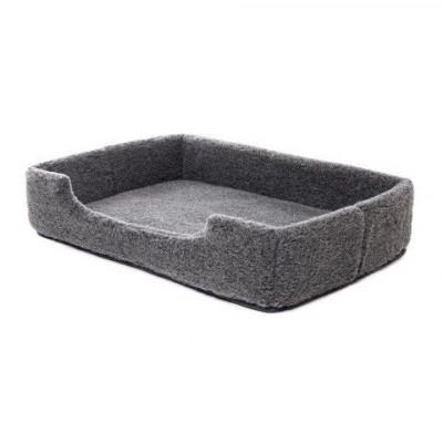 Woll-Pet-Bett Merino-Rechteck | Grau