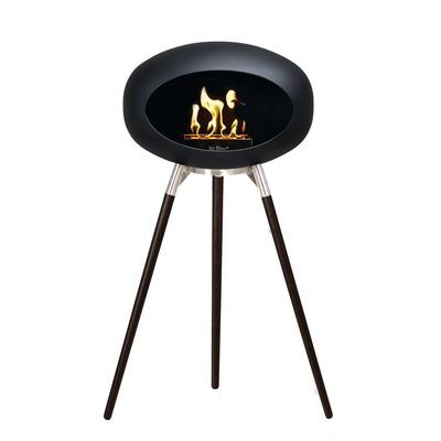Bio Fireplace Ground Wood Black 79 cm | Black Oak