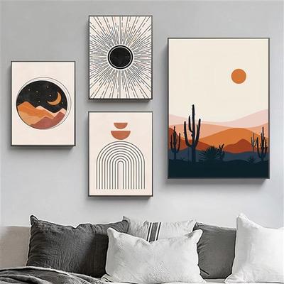 4er-Set Wandkunst Sonne TS286   Mehrfarbig