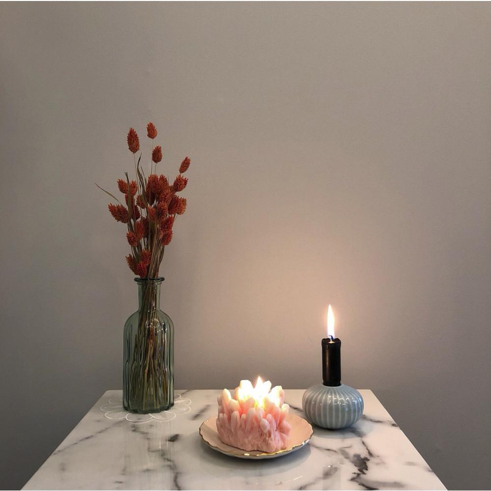 Sojawachs-Kerze Gemstone | Rosenquarz