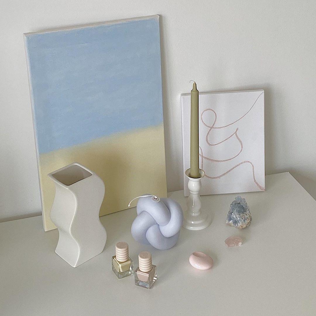 Sojawachs-Kerze Double Knots   Lavendelnebel
