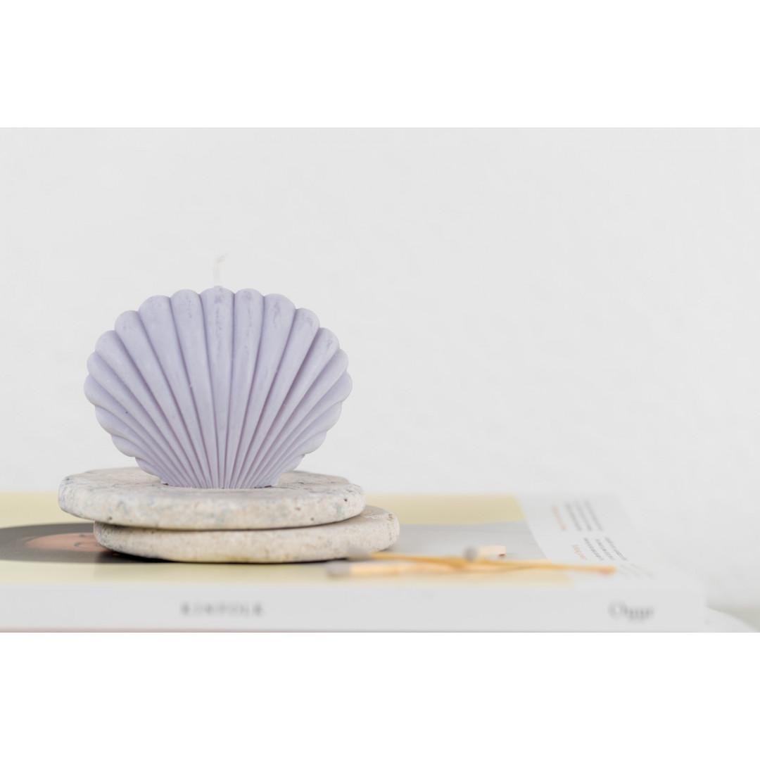 Sojawachs-Kerze Shell   Violett