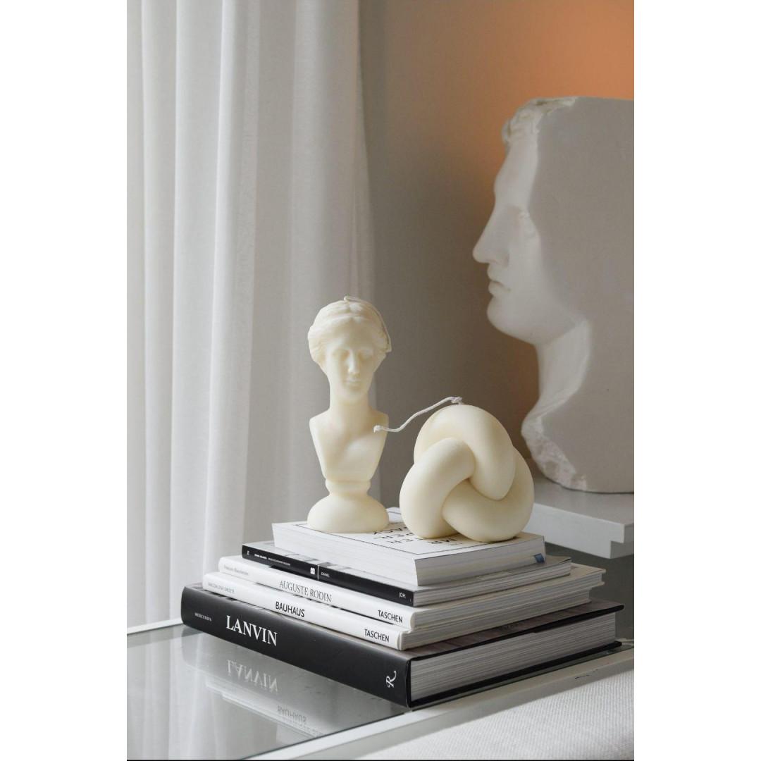 Sojawachs-Kerze Venus   Elfenbein