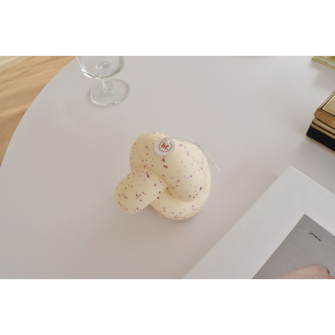 Sojawachs-Kerze Single Knot    Pollock