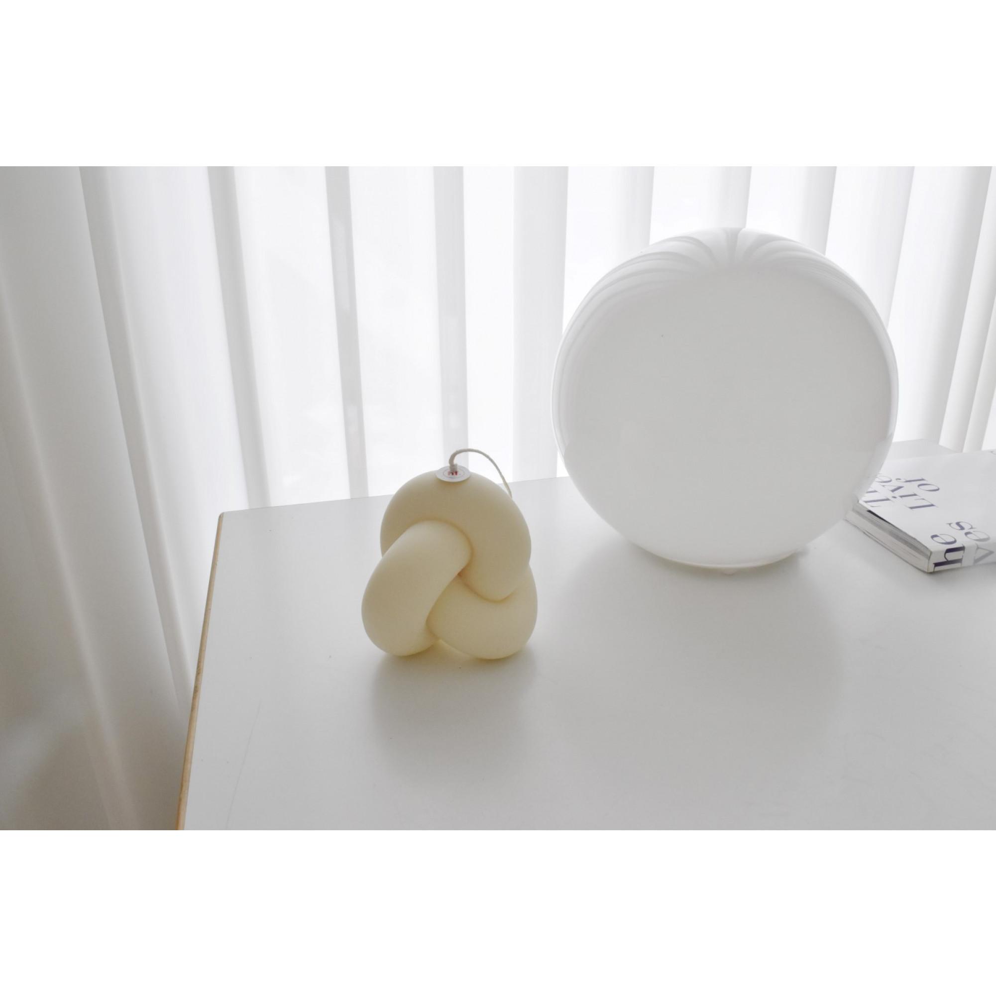 Sojawachs-Kerze Single Knot   Elfenbein