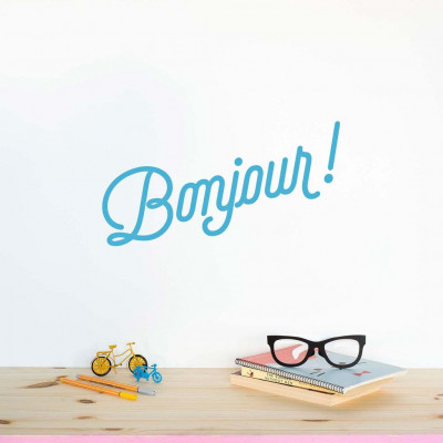 Wall Decal | Bonjour