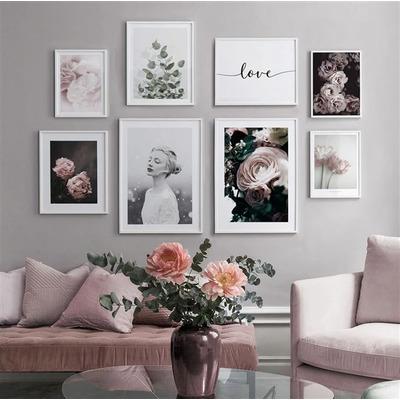 8er-Set Wandkunst Blume TS226   Multicolour