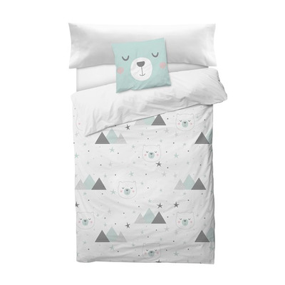 Bettbezug Mountain I Weiß 155x220 + 110x45 cm