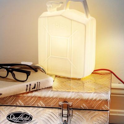 Porzellan-Kanisterlampe | Weiß