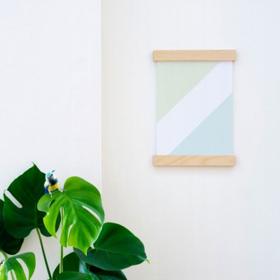 Wooden Poster Hanging Frame | Birch A4