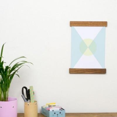 Wooden Poster Hanging Frame | Ovangkol A4