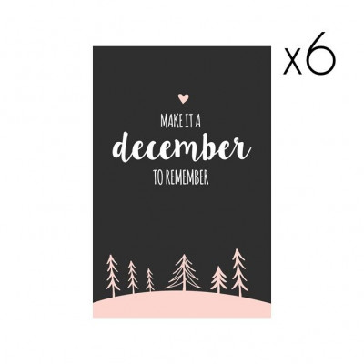 Christmas Cards | Set of 6 Make it a December to Remember