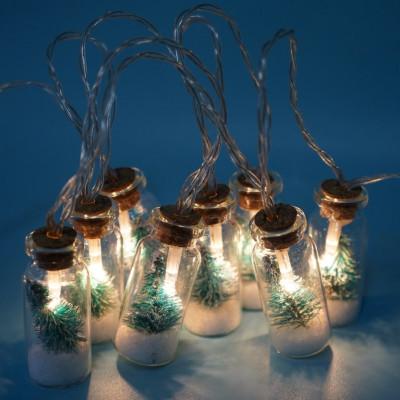 LED Lichterkette Flaschen