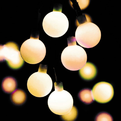 Deco Frosted Ball LED String OLS-100